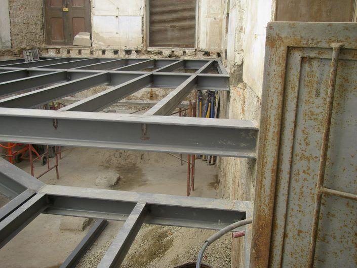 Estructura de suelo para edificio